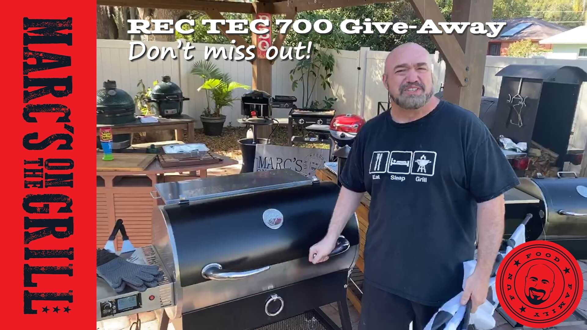 Get chances to win a brand new REC TEC 700 Pellet Grill from Marc's on the Grill and the good folks at REC TEC